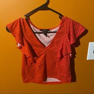 Forever 21 Crop Top Red L